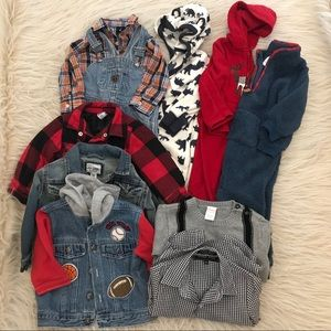 Boys toddler infant bundle 18-24 mo warm bodysuit